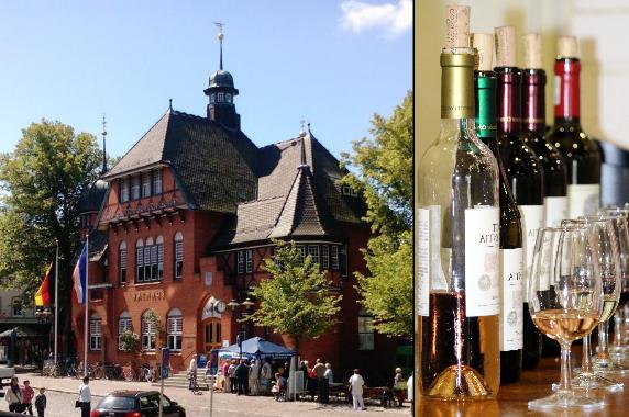 Burg - vinprovning & shopping